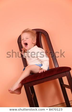 ребенка плакать Scream осень Председатель семьи Сток-фото © Paha_L