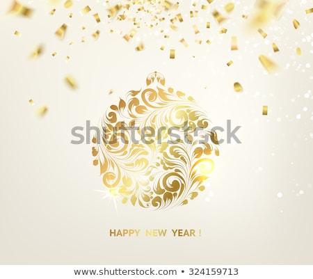 конфетти мяча текстуры с Новым годом 2016 Сток-фото © rommeo79