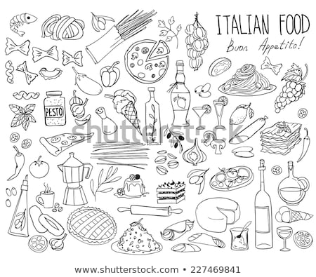 set of italy icons hand drawn stock photo © netkov1