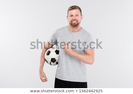 jovem · africano · jogador · de · futebol · bola · rival - foto stock © fouroaks