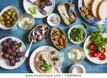 fumado · lula · rolar · peixe · saúde · restaurante - foto stock © zhekos