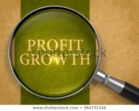 Profit Growth through Loupe on Old Paper. Stock photo © tashatuvango
