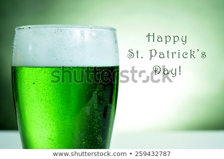 dyed green beer and text happy saint patricks day Stock photo © nito
