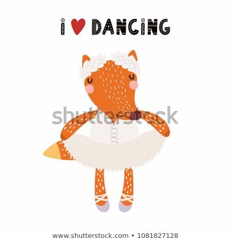 рисованной иллюстрация ног женщину Dance спорт Сток-фото © gigi_linquiet