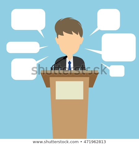 Empty political speech concept blah Stock photo © studiostoks