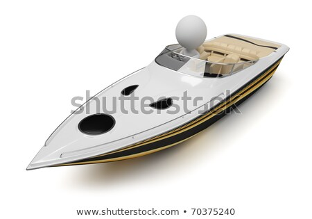 3d small people - boat Stock photo © AnatolyM