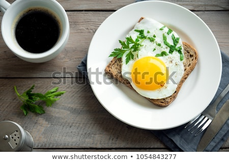 Plate of Eggs stock photo © stockfrank
