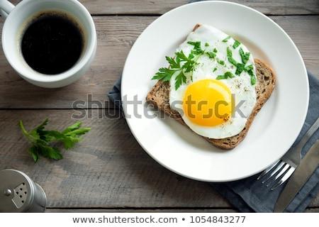 Plate of Eggs Stock photo © stockfrank