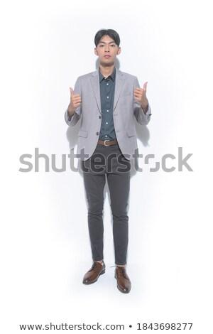 Biznesmen długo palce relacja części ciała inteligencja Zdjęcia stock © stevanovicigor