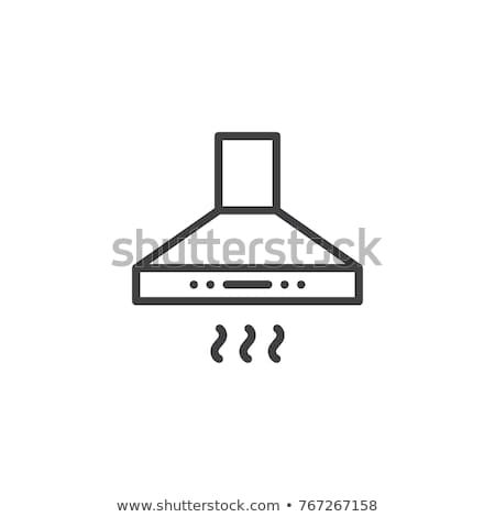 kitchen hood icon stock photo © angelp