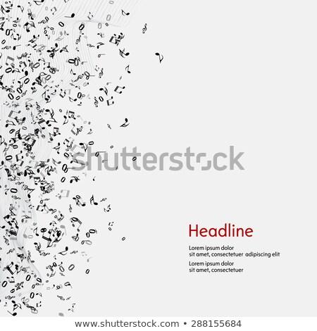 音楽 注記 黒 スライド 金 シンボル ストックフォト © timbrk