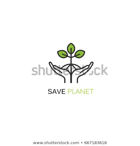 Eco world in hand Logo Template Stock photo © Ggs