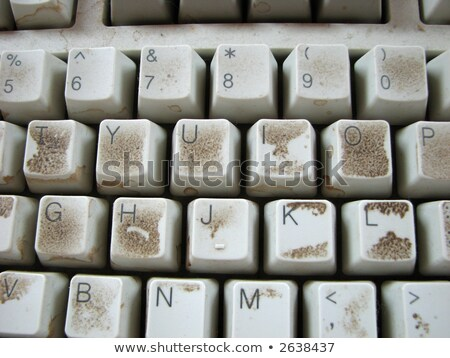 Dirty Computer Keyboard Stock photo © Lightsource