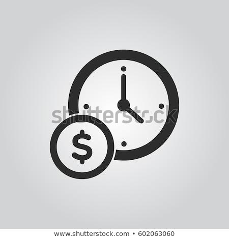 Az idő pénz arany 3D dobozok szöveg üzlet Stock fotó © marinini