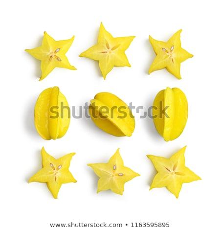 Carambola, starfruit on white background Stock photo © ConceptCafe