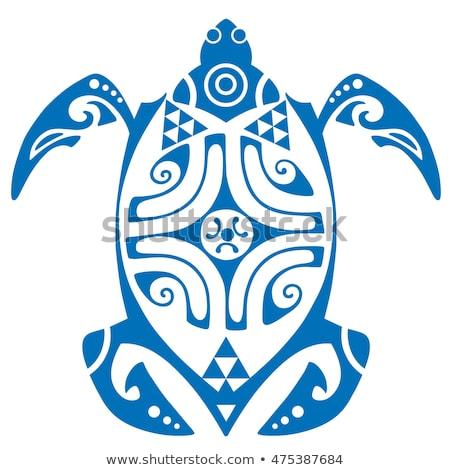 Maui Turtle Tattoo Motif Vector Stock photo © doddis
