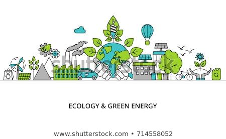 Ecologia bio energia elementos ícones Foto stock © ConceptCafe