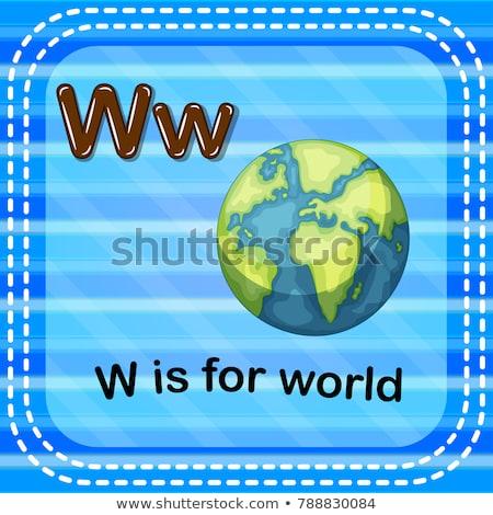 W harfi dünya örnek dünya arka plan sanat Stok fotoğraf © bluering