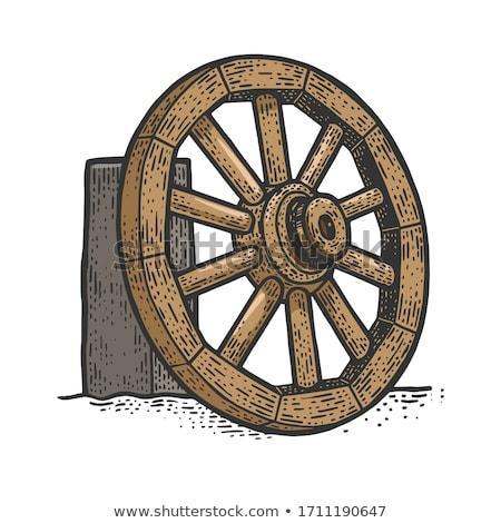 old wooden cart stock photo © oleksandro