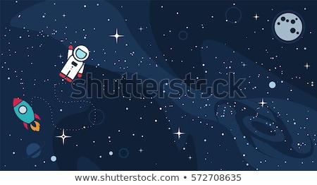 Sevimli uzay boşluğu karikatür örnek elemanları Stok fotoğraf © zsooofija