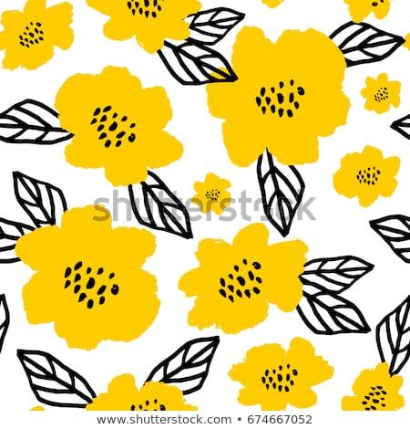 Siyah sarı soyut model Stok fotoğraf © cosveta