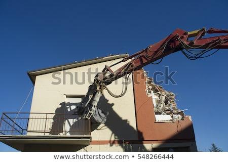 Demolizione casa terremoto centrale italia Foto d'archivio © Fotografiche