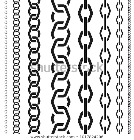 set of seamless chain patterns with broken links stock photo © adrian_n