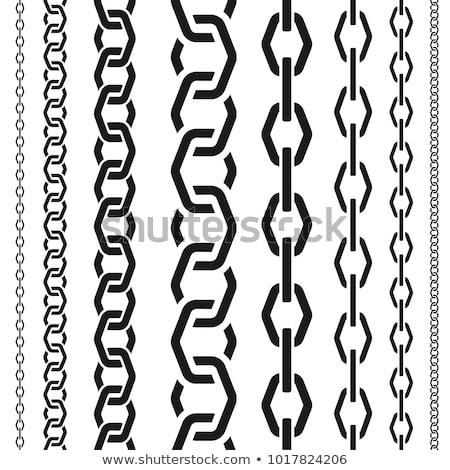 Stock fotó: Szett · végtelenített · lánc · minták · törött · linkek