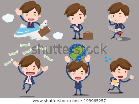 ビジネスマン 出張 お金 ジャンプ スーツ 袋 ストックフォト © kkunz2010