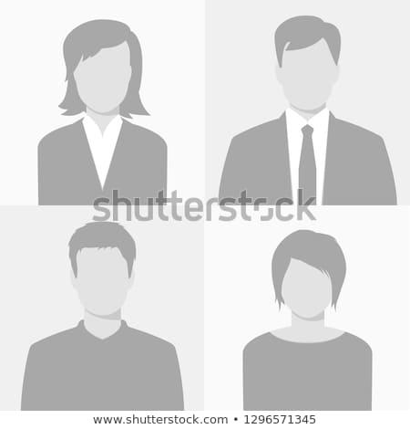 серый · Аватара · набор · женщину · бумаги · девушки - Сток-фото © sdCrea