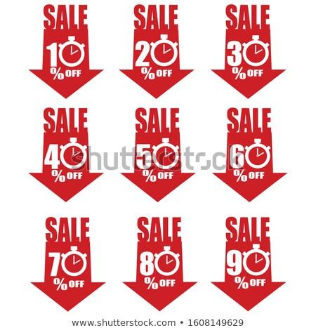 скидка баннер ваучер дизайна стрелка Сток-фото © SArts