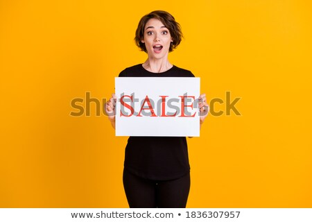 Incroyable lumineuses black friday vente affiche jaune Photo stock © SArts