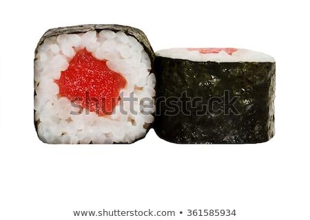 clássico · sushi · maki · salmão · caranguejo - foto stock © digifoodstock