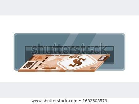 Kaart Mexico borden iconen creatieve vector Stockfoto © blumer1979