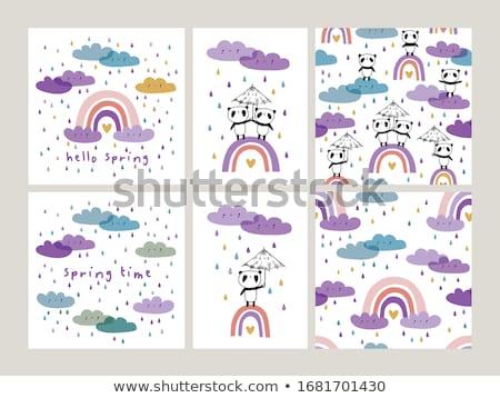 pintura · abstrato · arco-íris · cores - foto stock © lilac