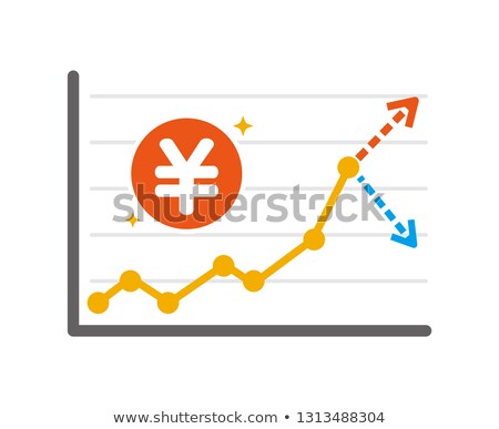 Yen profits. up and down arrow graph isolated Stock photo © alexmillos