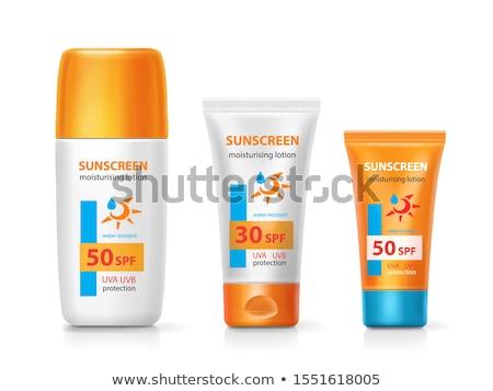 日焼け止め剤 クリーム ボトル 太陽 管 太陽 ストックフォト © robuart
