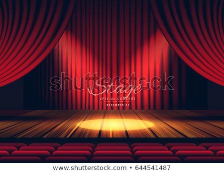 Premio rosso tende fase teatro Opera Foto d'archivio © SArts