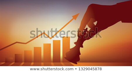 the rise of a chess player Stock photo © psychoshadow