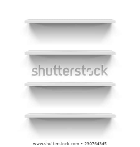 Três simples branco prateleiras modelo sombra Foto stock © romvo