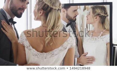 портрет · невеста · свадьба · белое · платье · нежный · Vintage - Сток-фото © dmitriisimakov