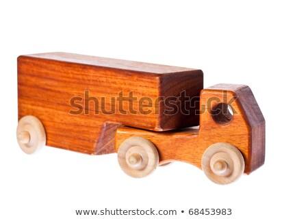 ファンキー レトロな 木製 トラック 孤立した ストックフォト © jaykayl