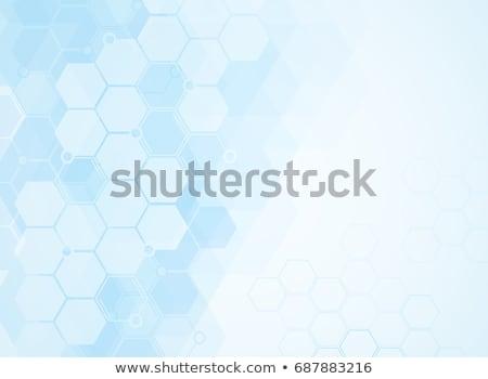 Absztrakt molekulák orvosi terv egészség háttér Stock fotó © SArts