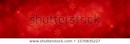 Natale rosso neve bokeh inverno capodanno Foto d'archivio © romvo