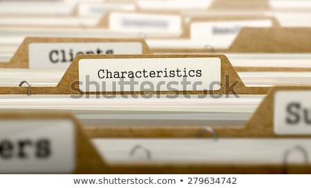 Characteristics Concept. Folders in Catalog. Stock photo © tashatuvango