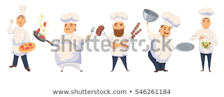 Chef Cook Cartoon Man Stock photo © Krisdog