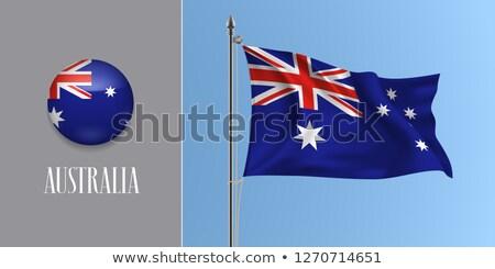 Australia waving flag Stock photo © Amplion
