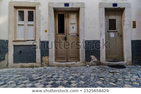Houten deur huis architectuur gebouw home Stockfoto © Andrei_