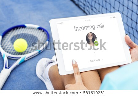 Incoming tennis ball Stock photo © icefront