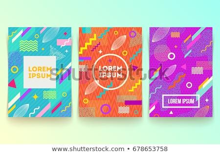 коллекция аннотация красочный полосатый фоны аналогичный Сток-фото © ExpressVectors
